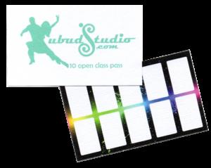 Ubud Studio 10 class card/ class schedule